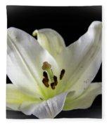 Large Lily-1 Fleece Blanket