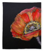Large Poppy Fleece Blanket