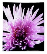 Large Purple Chrysanthemum-1 Fleece Blanket