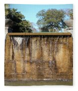 Large Water Fountain Fleece Blanket
