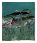 Largemouth Bass Fleece Blanket