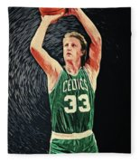 Larry Bird Fleece Blanket