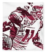 Larry Fitzgerald Arizona Cardinals Pixel Art 1 Fleece Blanket