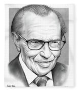 Larry King Fleece Blanket