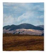 Las Trampas Hills Fleece Blanket