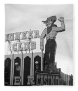 Las Vegas 1980 Bw #13 Fleece Blanket