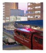 Las Vegas Monorail Fleece Blanket