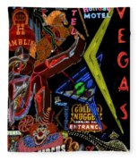 Las Vegas Neon Fleece Blanket
