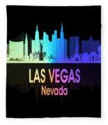 Las Vegas Nv 5 Vertical Fleece Blanket
