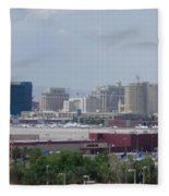 Las Vegas Pano Section 2 Of 3 Fleece Blanket