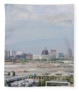 Las Vegas Pano Section 3 Of 3 Fleece Blanket