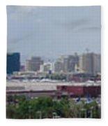 Las Vegas Panoramic View Fleece Blanket