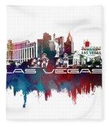 Las Vegas Skyline City Blue Fleece Blanket