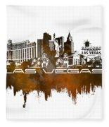 Las Vegas Skyline City Brown Fleece Blanket
