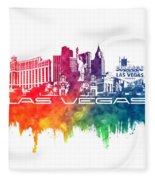 Las Vegas Skyline City Color Fleece Blanket