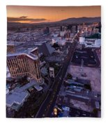 Las Vegas Strip Aloft Fleece Blanket