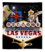 Las Vegas Symbolic Sign Fleece Blanket