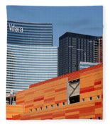 Las Vegas Under Construction Fleece Blanket