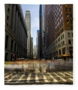 Lasalle Street Commuter Action Fleece Blanket