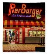 Last Burger On Land Fleece Blanket