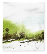 Last Green Of The Season Fleece Blanket