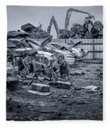 Last Journey - Salvage Yard Fleece Blanket