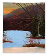 Last Light Of Day Fleece Blanket