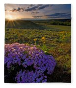 Last Light Of Spring Fleece Blanket