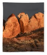 Last Light Valley Of Fire Fleece Blanket