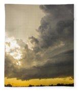 Last Nebraska Supercell Of The Summer 024 Fleece Blanket
