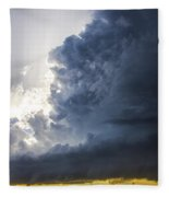 Last Nebraska Supercell Of The Summer 038 Fleece Blanket