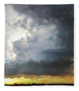 Last Nebraska Supercell Of The Summer 045 Fleece Blanket