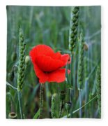 Last Poppy Fleece Blanket