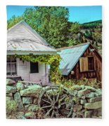 Last Post Office And Ice House Fleece Blanket