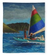 Last Sail Before The Storm Fleece Blanket