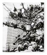 Last Snow Fall  Fleece Blanket
