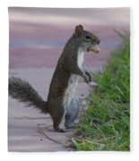 Last Squirrel Standing Fleece Blanket