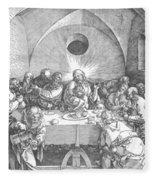 Last Supper 1510 Fleece Blanket