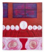 Last Supper Fleece Blanket