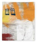 Last Train To Stockholm- Art By Linda Woods Fleece Blanket