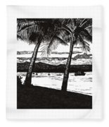 Late Afternoon At Dunk Island Fleece Blanket