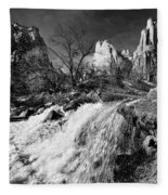Late Afternoon At The Court Of The Patriarchs - Bw Fleece Blanket
