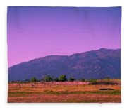 Late Afternoon In Taos Fleece Blanket