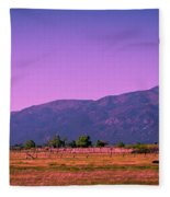 Late Afternoon In Taos Fleece Blanket