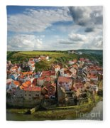 Late Afternoon Light On Staithes Fleece Blanket