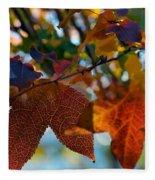 Late Autumn Colors Fleece Blanket