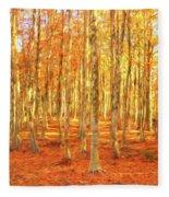 Late Autumn In Calabria Fleece Blanket