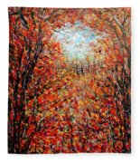Late Autumn Fleece Blanket