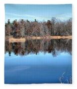 Late Autumn Reflections Fleece Blanket