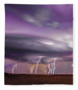 Late July Storm Chasing 086 Fleece Blanket